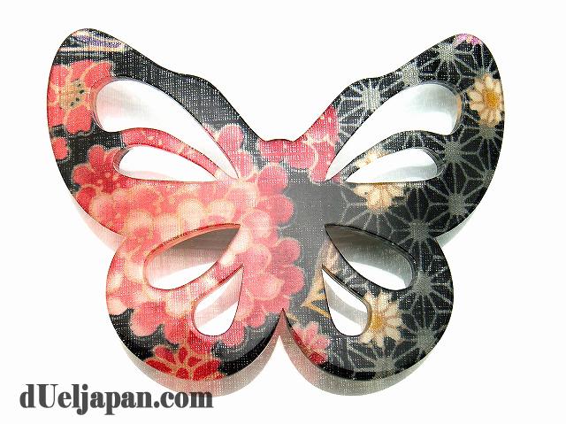 髪飾り・蝶バレッタ(クロ)