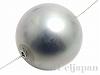シェルパール/貝真珠 16mm (丸玉) グレー ×1個