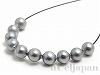 シェルパール/貝真珠 3〜3.5mm (丸玉) グレー ×10個