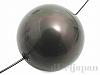 シェルパール/貝真珠 14mm (丸玉) ダークグリーン ×1個