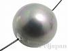 シェルパール/貝真珠 12mm (丸玉) ダークグレー ×1個