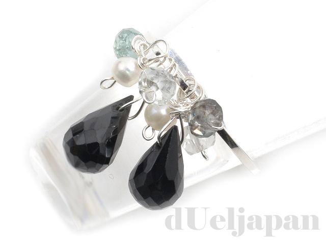 宝石質ブラックスピネルのリング
