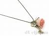 薔薇と鍵のネックレス