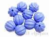 12mm丸玉スジ入り樹脂ビーズ(ブルー) ×10個