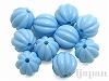 12mm丸玉スジ入り樹脂ビーズ(ライトブルー) ×10個