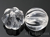 13〜14mm スジ彫り丸玉 天然水晶 ×2個