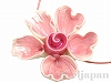 フラワーパーツ15mm(ピンク) 1個