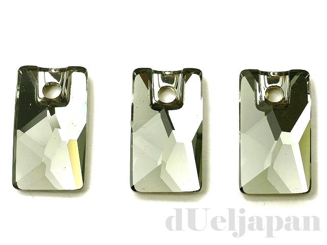 ブラックダイヤモンド 12.5×7mm (#3500/ペンデュラーロッホローズ) ×3個