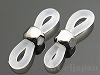 メガネ留めパーツ18×6mm(ロジウムカラー) 1ペア