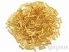 #195 6×1.7mm 18金メッキビーズ 竹(丸パイプ状) ×10g【クリスタルゴールドライン(純金メッキ)】