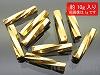 TW191 2.7×12mm 18金メッキガラスビーズ ツイスト ×10g【本金メッキ】