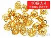 アルミ花座 10×8mm (ゴールドカラー) ×10個