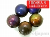 6mm ムードビーズ(温度で変化するカラーチェンジビーズ)丸玉 磁気あり ×100個