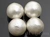 片穴丸玉 12mm 4粒 コットンパール(ホワイト)