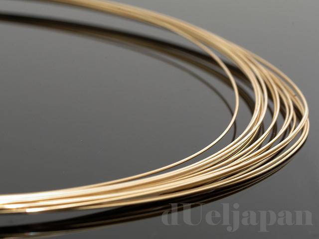 10金 ナマシ線 0.4mm ×100cm K10YG(イエローゴールド)