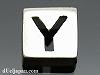 アルファベット(Y) 8mm四角 SV925