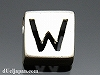 アルファベット(W) 8mm四角 SV925