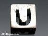 アルファベット(U) 8mm四角 SV925