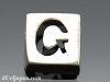 アルファベット(G) 8mm四角 SV925