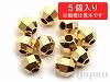 3mmミラーボールビーズ(18金メッキ) ×5個