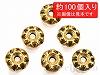 【大袋】高級ロンデル 6mm (アンティークゴールド) ×約100個