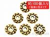 【大袋】アメリカ製ロンデル 6mm (アンティークゴールド) ×約100個