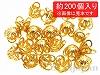 【大袋】アルミ花座 10×8mm (ゴールドカラー) ×約200個