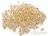 BB195 ベリービーズ(小) 2.5×4.5mm ×10g【クリスタルゴールドライン(純金メッキ)】