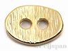 2穴ボタン オーバルヘアライン(小) 8.5×12.5mm (24金メッキ)