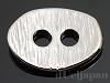 2穴ボタン オーバルヘアライン(小) 8.5×12.5mm (ロジウムカラー)