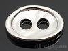 2穴ボタン オーバル槌目(小) 8.5×12.5mm (ロジウムカラー)