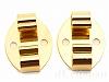 ループタイ留め金具 19×15mm (ゴールドカラー) ×2個