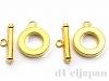 ブレスレット向けマンテル 15mm (ゴールドカラー) ×2セット