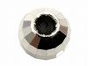 シリコン入りライトミラーボール(スライド調節) 4mm K14WG(ホワイトゴールド)