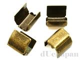 ツメ付留め金具 内幅約7mm (金古美) ×4個