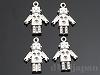 チャーム ロボット 19×13mm (シルバーメッキ・マット加工) ×4個