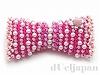 ピンクのリボンブローチ
