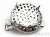シャワー台付ヘアクリップ兼ブローチ 25mm (ロジウムカラー)