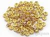 ロンデル8mm(平型/ゴールドカラー/薄いピンク) ×約90個