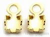 SS8〜8.5用チェーンストーン留め金具 (ゴールドカラー) ×2個