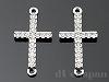 ラインストーン付クロスツナギ 22.5×12mm (ロジウムカラー) ×2個