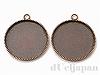 20mmミール皿 カン付 29mm(銅古美) ×2個
