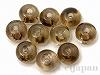 6mm ボタン スモーキークォーツ(薄色) ×10個