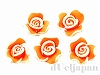 樹脂フラワー(オレンジ) 10×7mm ×5個