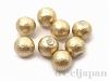 片穴丸玉 6mm 8粒 コットンパール(ゴールド)