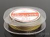 0.4mm ×4m ナイロンコートワイヤー(42×7) ゴールド カシメ玉付