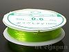 カラーゴム(丸/黄緑色・ライトグリーン)0.6mm×10m
