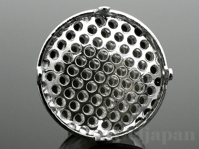 12mmシャワー台付タックピン (ロジウムメッキ)