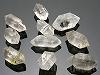 天然両剣水晶10〜18mm×10 穴有り