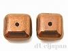 正方形 8×8mm(カッパー) イタリア製ベネチアンビーズ ×2個